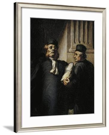 France, Lyon, Two Lawyers, 1848--Framed Giclee Print