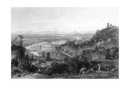 France Lyon-Thomas Allom-Giclee Print