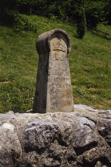 France. Medieval Stele, Erected in 1960, in Memory of the Cathars--Photographic Print