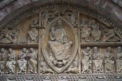 France, Midi-Pyrenees Region, Lot Departament, Carennac, Church of Saint Peter, Relief Detail--Giclee Print
