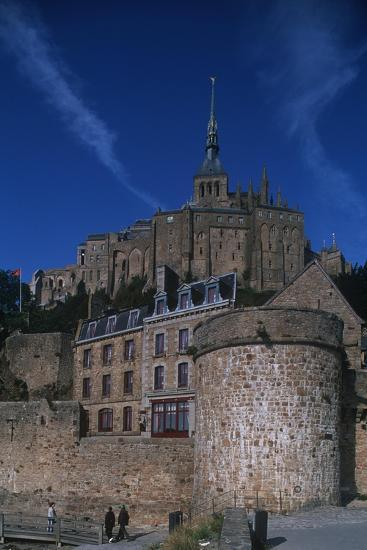 France, Normandy, Abbey at Le Mont-Saint-Michel--Giclee Print