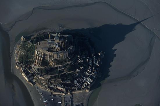 France, Normandy, Aerial View of Le Mont-Saint-Michel--Giclee Print