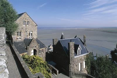 France, Normandy, Mont Saint-Michel, Ramparts--Giclee Print