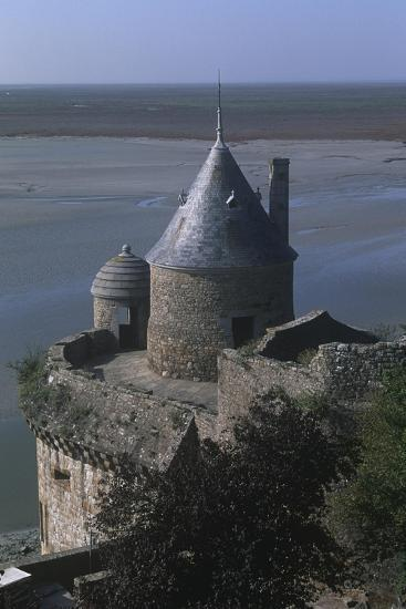 France, Normandy, Ramparts of Le Mont-Saint-Michel--Giclee Print