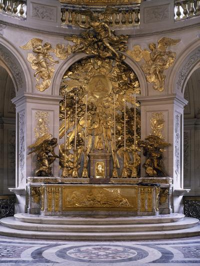 France, Palace of Versailles, Royal Chapel, Marble Altar and Great Altarpiece in Gilded Bronze--Photographic Print
