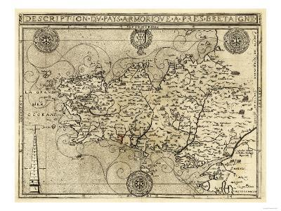 France - Panoramic Map-Lantern Press-Art Print