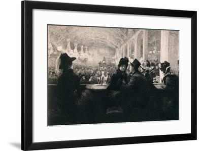 France, Paris, a Cafe-Chantant in Paris, 1866--Framed Giclee Print