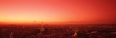 France, Paris, Aerial View--Photographic Print