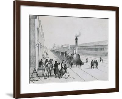 France, Paris, Arrival of the Freight Train Paris-Orleans--Framed Giclee Print