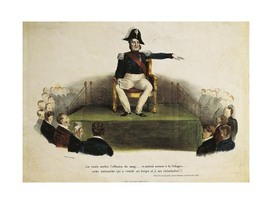 France, Paris, Caricature of Louis-Philippe I at Chamber of Deputies Session, July 23Rd, 1831--Giclee Print