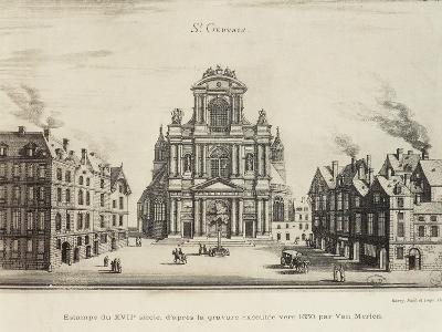 France, Paris, Church of Saint-Gervais, Facade--Giclee Print