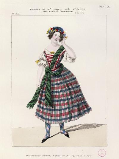 France, Paris, Costume Sketch for Alice in Opera Lucia Di Lammermoor--Giclee Print