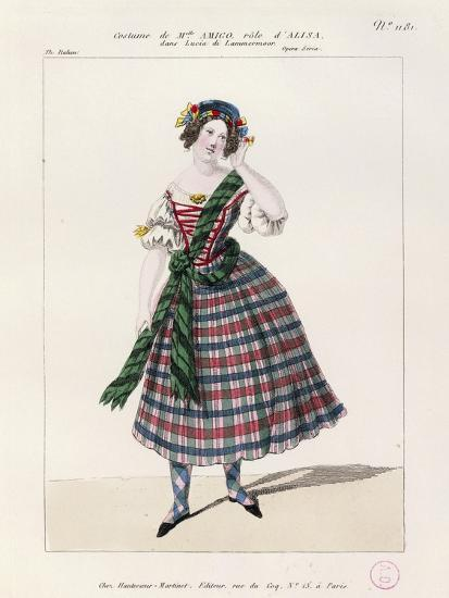 France, Paris, Costume Sketch for Alice in Opera Lucia Di Lammermoor--Giclee Print