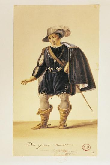 France, Paris, Costume Sketch for Performance Don Giovanni or the Rake Punish'D--Giclee Print