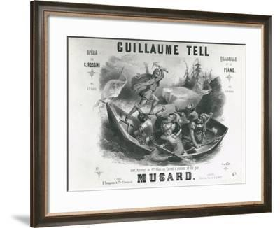 France, Paris, Cover for William Tell Play--Framed Giclee Print