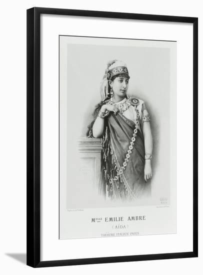 France, Paris, Emilie Ambre as Aida in Aida--Framed Giclee Print