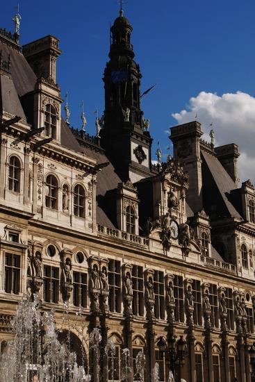 France, Paris, Hotel De Ville, Renaissance Revival- Ballu & Deperthes-Photographic Print