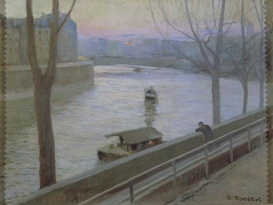 France, Paris, Ile Saint-Louis-Scipione Pulzone-Giclee Print