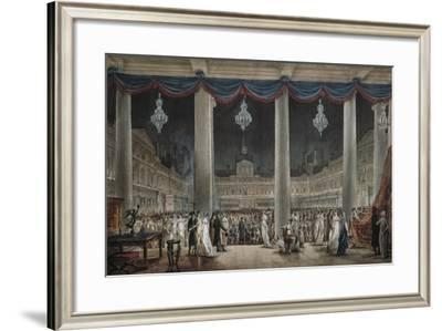 France, Paris, Industrial Exposition in Large Courtyard in Louvre, 1801--Framed Giclee Print
