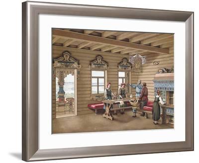 France, Paris, Interior of an Izba--Framed Giclee Print