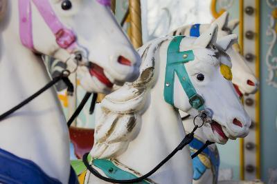 France, Paris, Jardin of the Tuileries, Roundabout, Horses, Detail-Rainer Mirau-Photographic Print