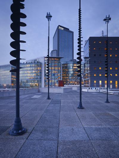 France, Paris, La Defense, High Rises, Le Basin De Takis, Sculptures-Rainer Mirau-Photographic Print