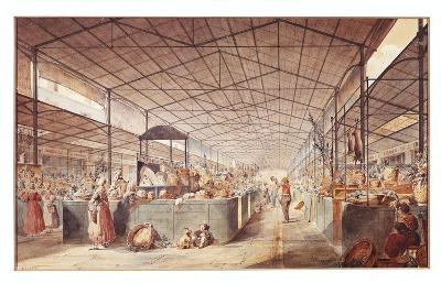 France, Paris, Les Halles Market by Max Berthelin, 1835--Giclee Print