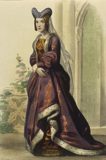 France, Paris, Portrait of Anne of France--Giclee Print