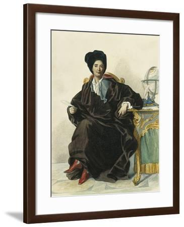 France, Paris, Portrait of French Scientist and Author, Bernard Le Bovier De Fontenelle--Framed Giclee Print
