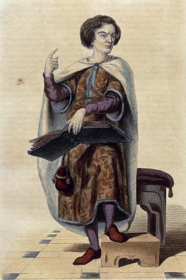 France, Paris, Portrait of Peter Abelard--Giclee Print