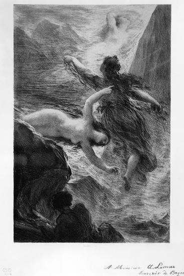 France, Paris, the Daughters of the Rhine Playing in the Waters by Henri Fantin-Latour--Giclee Print