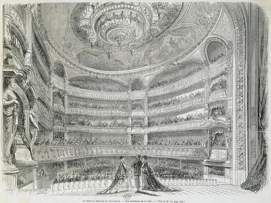 France, Paris, Theatre Du Vaudeville, Theatre House, View from Stage--Giclee Print