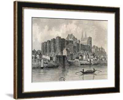France, Paris, View of Castle in Angers--Framed Giclee Print