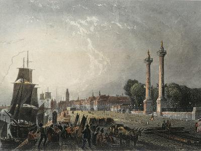 France, Paris, View of the Embankments of the Garonne in Bordeuax--Giclee Print