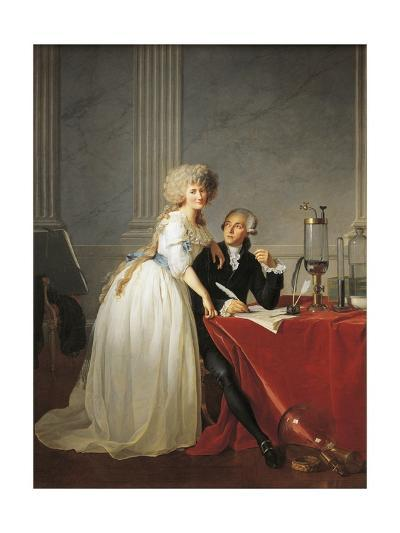 France, Portrait of French Chemist Antoine Laurent Lavoisier with Wife--Giclee Print