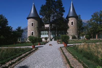 France, Provence-Alpes-Côte D'Azur, Hautes-Alpes, Embrun, Picomtal Castle--Giclee Print