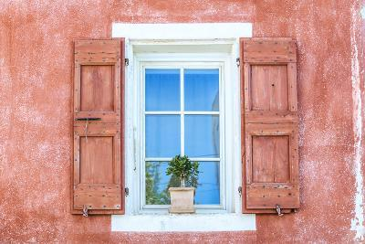 France, Provence Alps Cote D'Azur, Vaucluse, Banon. Detail of a Window in the Old Village-Matteo Colombo-Photographic Print