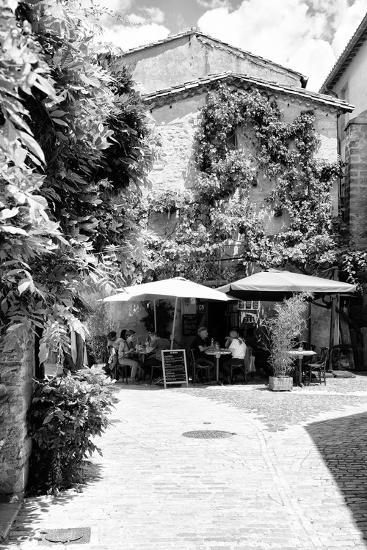 France Provence B&W Collection - Provencal Restaurant - Uzès-Philippe Hugonnard-Photographic Print
