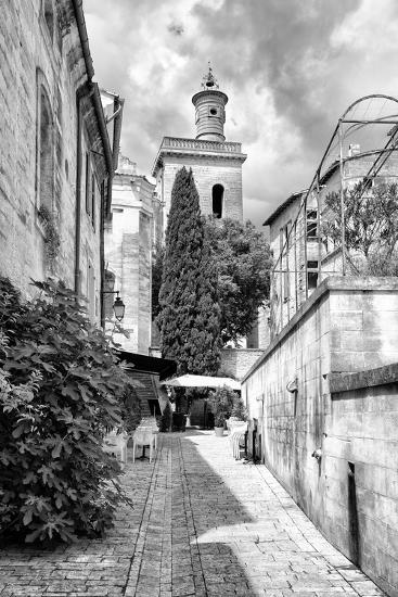 France Provence B&W Collection - Street Scene III - Uzès-Philippe Hugonnard-Photographic Print