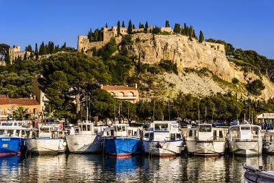 France, Provence, Bouches-Du-Rh™ne, Riviera, Cassis, Harbour with Castle-Udo Siebig-Photographic Print