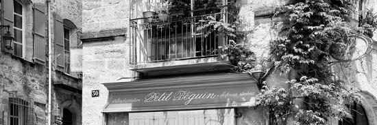 France Provence Panoramic Collection - Beautiful Provencal Architecture B&W - Uzès-Philippe Hugonnard-Photographic Print