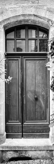 France Provence Panoramic Collection - Black Door B&W-Philippe Hugonnard-Photographic Print