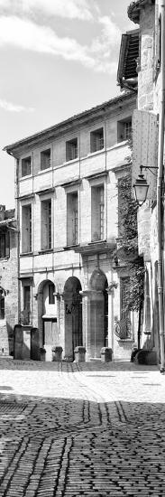 France Provence Panoramic Collection - French Facade B&W-Philippe Hugonnard-Photographic Print