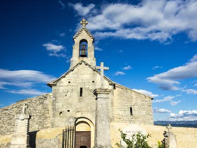France, Provence, Saint Pantaleon, Church of the 12th Century with a Rock Necropolis-Terry Eggers-Photographic Print