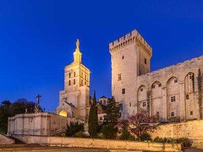France, Provence, Vaucluse, Avignon, Place Du Palais, Papal Palace, Cathedral Notre Dame-Udo Siebig-Photographic Print
