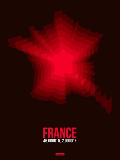 France Radiant Map 4-NaxArt-Art Print