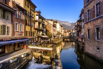 France, Rh™ne-Alpes, Haute-Savoie, Annecy, River Thiou, Old Town-Udo Siebig-Photographic Print