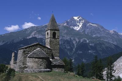 France, Rhone-Alpes, Vanoise Massif, Church of Saint Pierre D'Extravache--Giclee Print