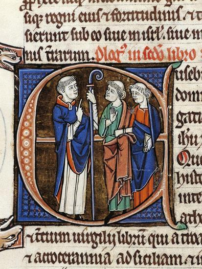 France, Saint Jerome and His Companions, Miniature from the Latin Bible--Giclee Print