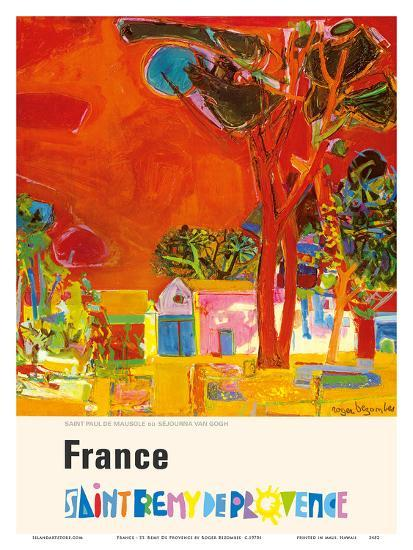 France - St. Remy De Provence (Provence St. Remy) - St. Paul Monastery (Resting Place of Van Gogh)-Roger Bezombes-Art Print